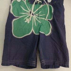 OLD NAVY, 5T, blue shorts with giant flower, BNWOT